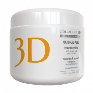 Энзимный пилинг Natural Peel с папаином и экстрактом Шисо Medical Collagene 3D, 150 г